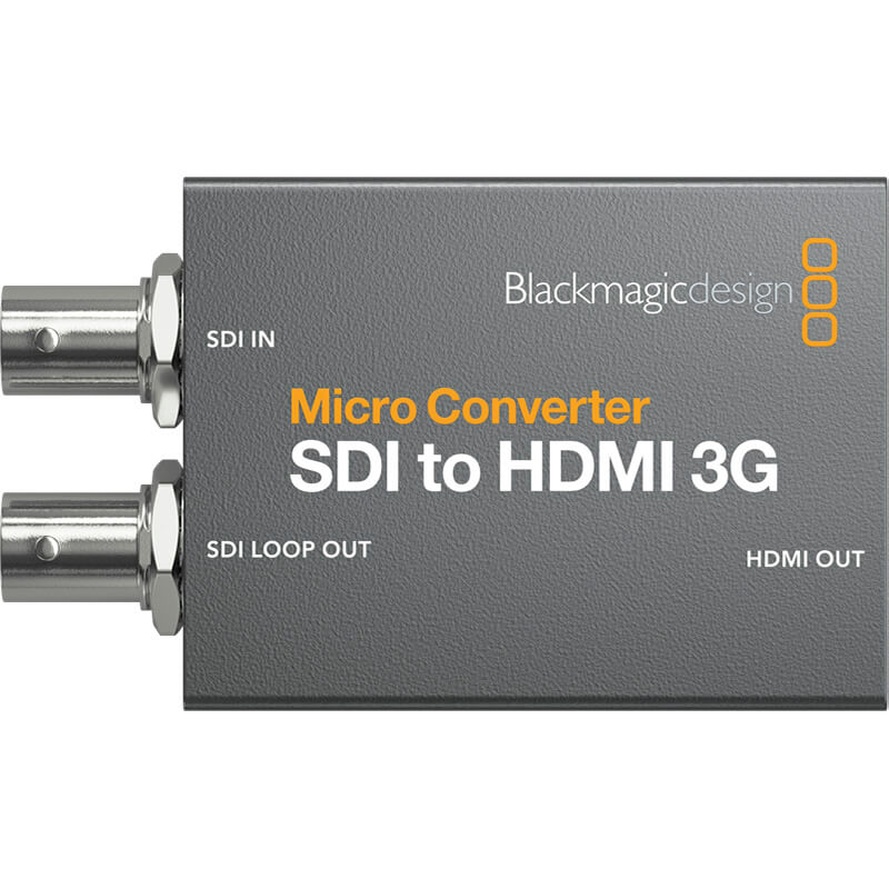 BLACKMAGIC SDI TO HDMI 3G MICRO CONVERTER W/PSU