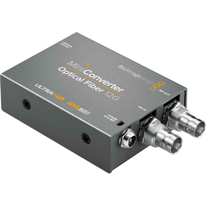 BLACKMAGIC MINI CONVERTER OPTICAL FIBRE 12G