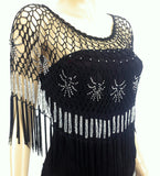 Beaded Cape With Fringe (Style #5956)