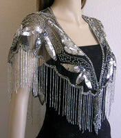 Short Beaded Sequin Capes