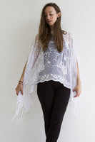 Sequin White Wonder Shawl