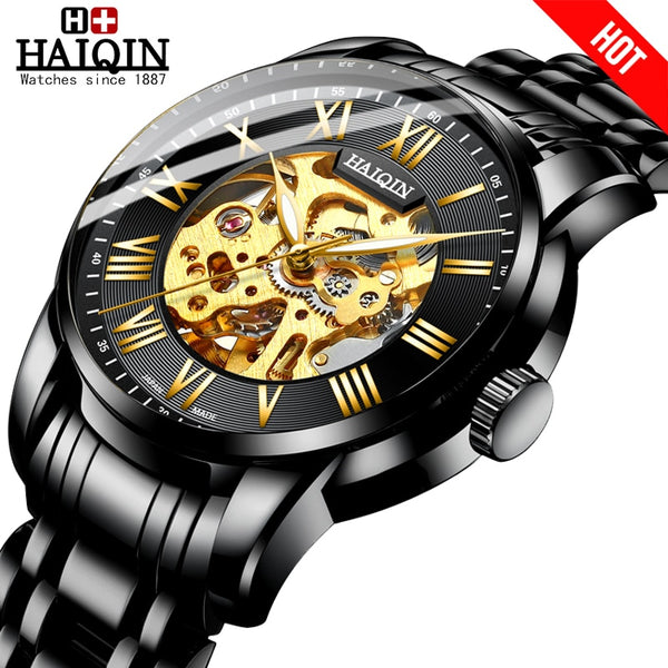 The luxury HAIQIN 2019 New mechanical Watch for men