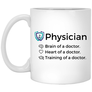Brain, Heart, and Training 11oz Mug