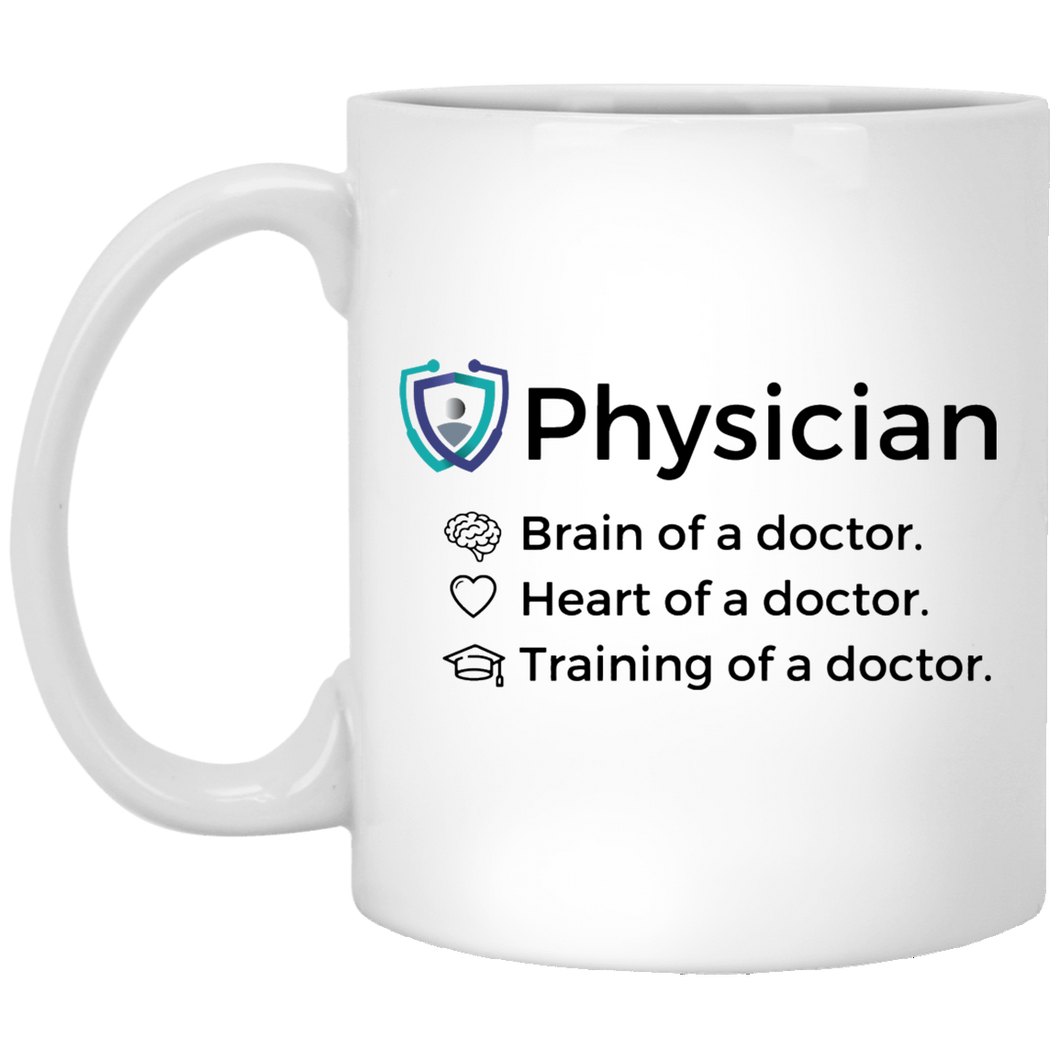Heart, Brain, and Training 11oz Mug