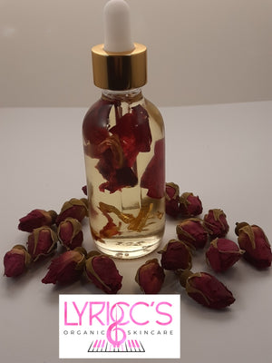 Rose Gold Infused Body Oil - Lyricc's Organic Skincare