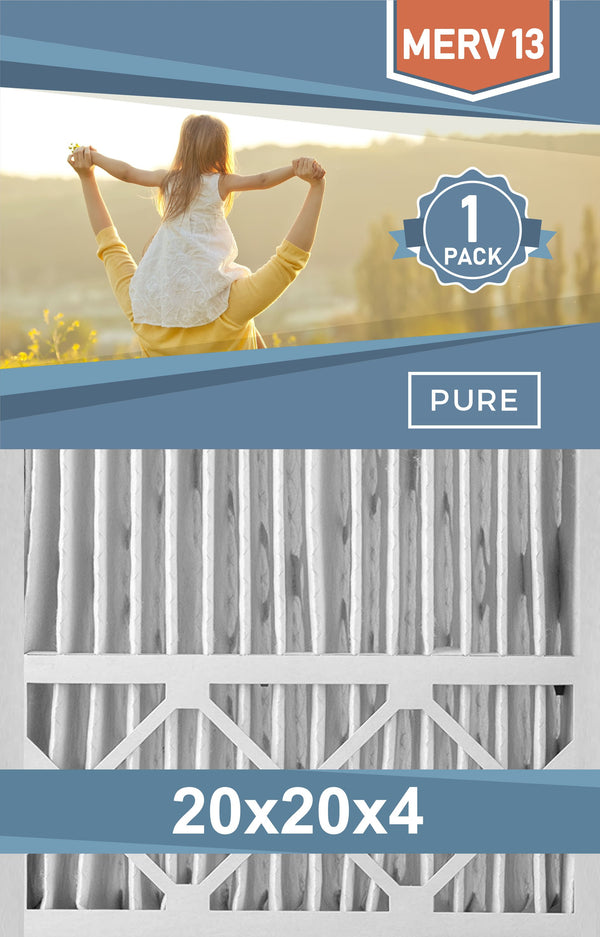 Pleated Furnace Filters - 20x20x4 - MERV 8, MERV 11 and MERV 13 - PureFilters.com