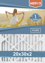 Pleated Furnace Filters - 20x30x2 - MERV 8, MERV 11 and MERV 13 - PureFilters.com