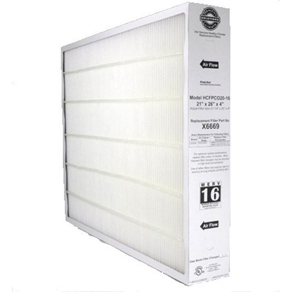 Lennox X6669- Furnace Filter 21x26x4 MERV 16 pleated media filter - PureFilters.com