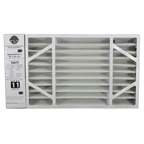 Lennox X6670 - Healthy Climate HCF16-11 Replacement Filter 16x25x5 MERV 11 (OEM) - PureFilters.com