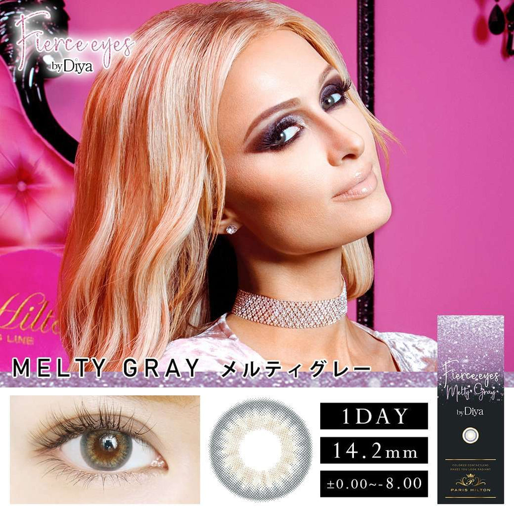 Fierce eyes by Diya | 1day 10枚入<br>メルティグレー - Push!Color GLOBAL