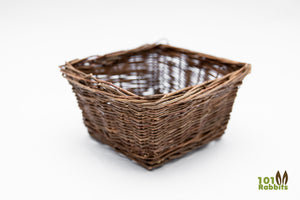 Large - Square Willow Basket