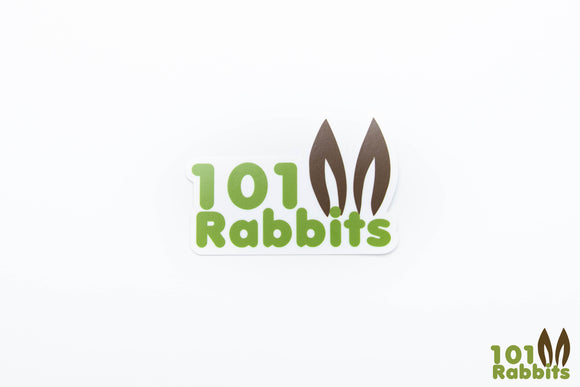 101Rabbits Logo Sticker