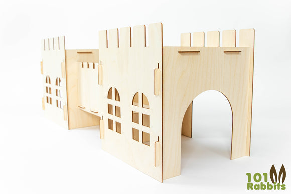 Wooden Rabbit Castle and Bridge Set™️