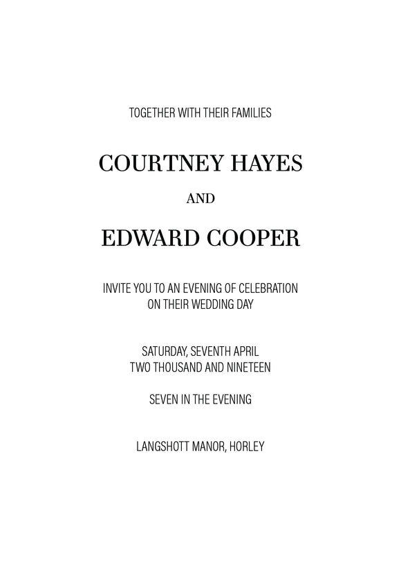 Courtney Evening Wedding Invitation