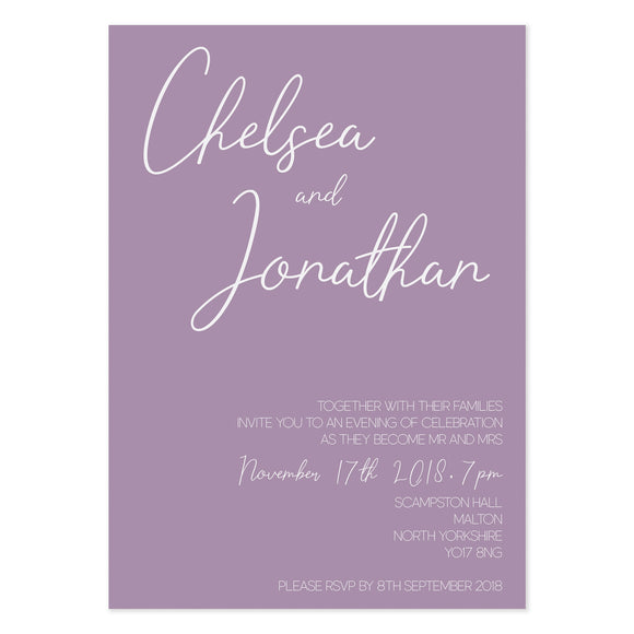 Paper Dreams Evening Wedding Invitation