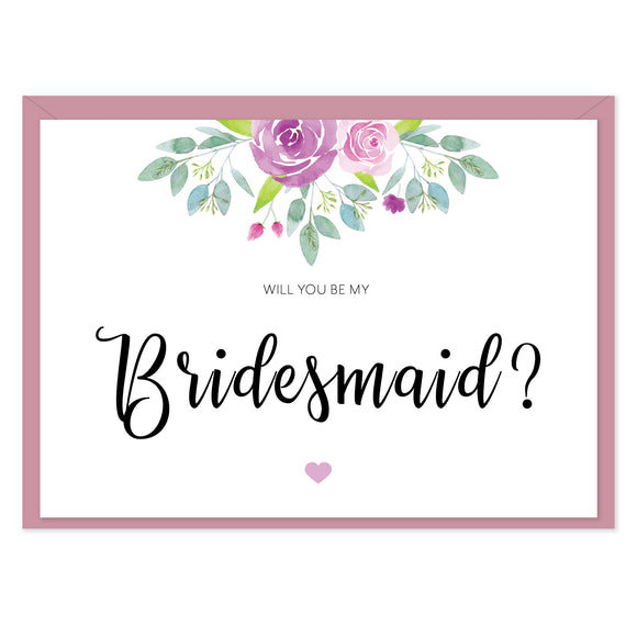 Flora 'Will You Be My Bridesmaid?' Card