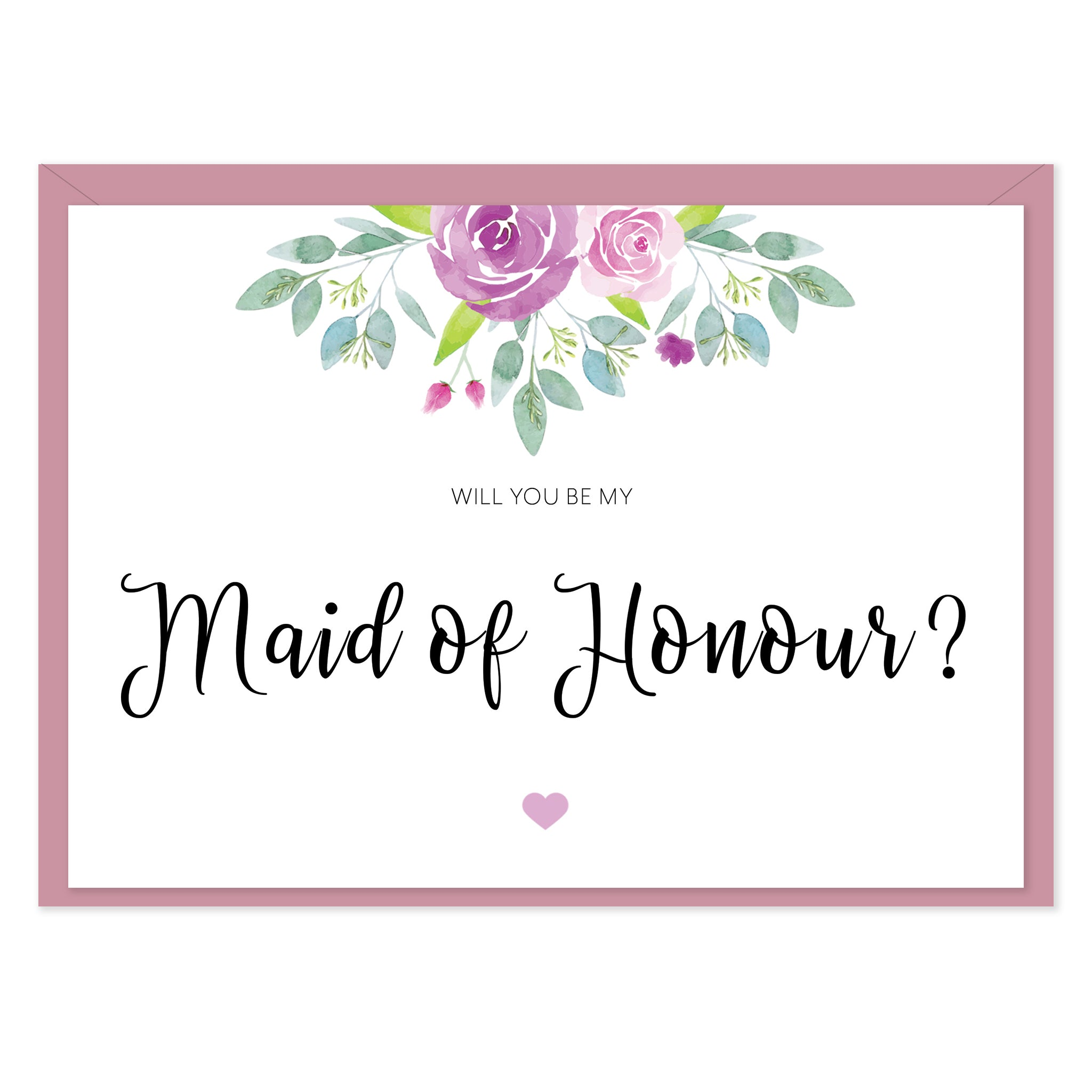 Flora 'Will You Be My Maid of Honour?' Card