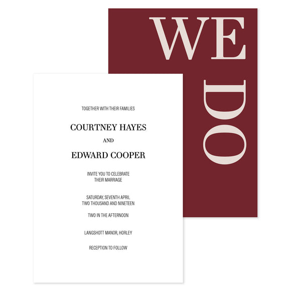 Courtney Day Wedding Invitation