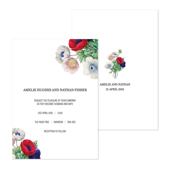 Poppy Day Wedding Invitation