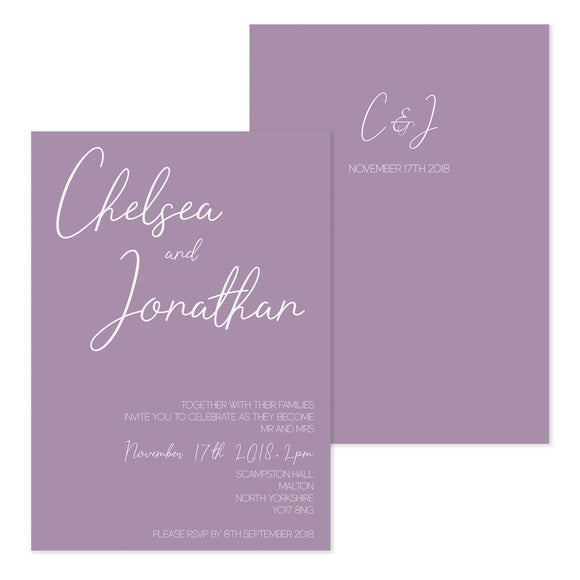 Paper Dreams Day Wedding Invitation