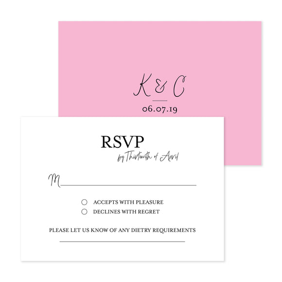 All My Heart RSVP Card