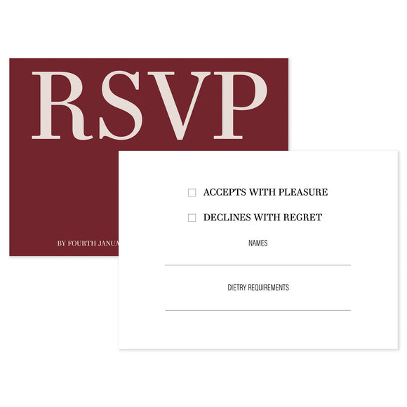 Courtney RSVP Card