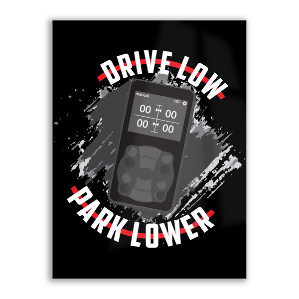 Drive Low Park Lower - High Gloss Metal Wallart
