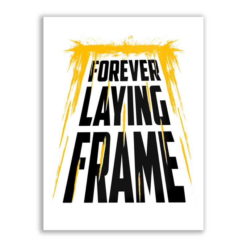 Forever Laying Frame - High Gloss Metal Wallart