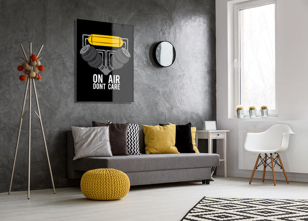 On Air Dont Care- High Gloss Metal Wallart