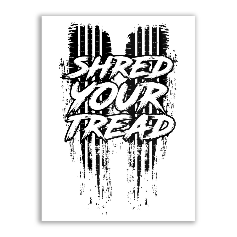 Shred Your Thread - High Gloss Metal Wallart
