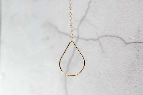 Gold Pear Necklace