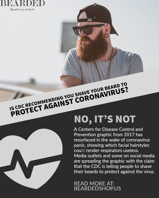 Is CDC recommending you shave your beard to protect against coronavirus?