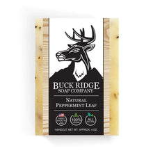 Load image into Gallery viewer, Buck Ridge Men's Handmade Soap Buck Ridge - Natural Peppermint Leaf Handmade Soap