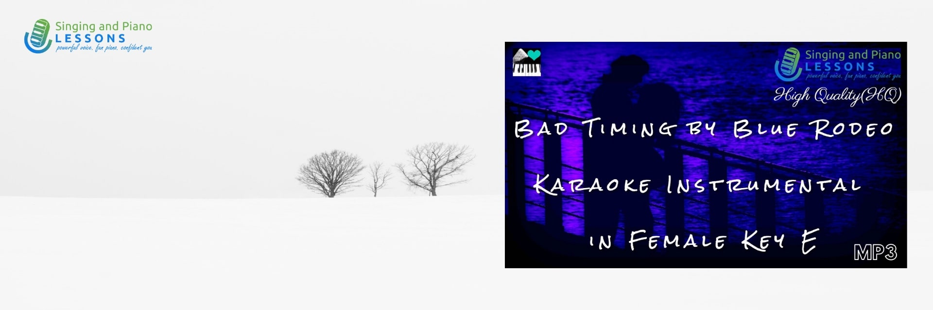 Bad Timing by Blue Rodeo Karaoke Instrumental in Female Key E/ Baritone for Males