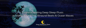 Insomnia Healing Deep Sleep Music w/ Delta Waves 1 Hz, Binaural Beats & Ocean Waves