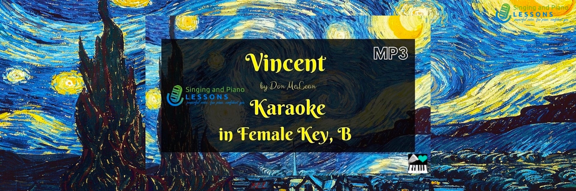 Vincent, Don McLean, Karaoke in Female Key B/ Baritones for Males