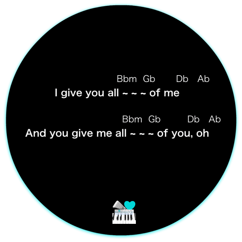 16 Outro All of me by John Legend, Karaoke, Instrumental in Female Key/ Baritone for Males