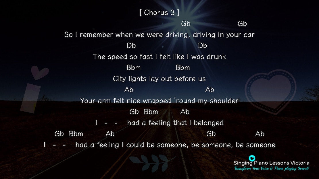 19 Chorus Fast Car by Tracy Chapman, Karaoke in Higher Female Key(& Male, Baritone), HQ
