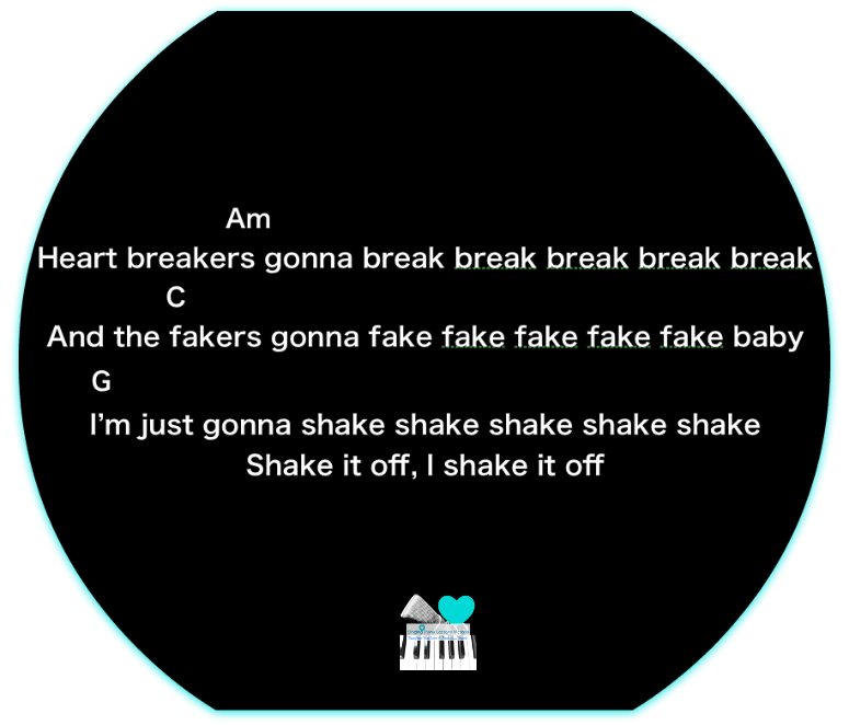 5 C1 Shake it off, Taylor Swift  Karaoke  Instrumental