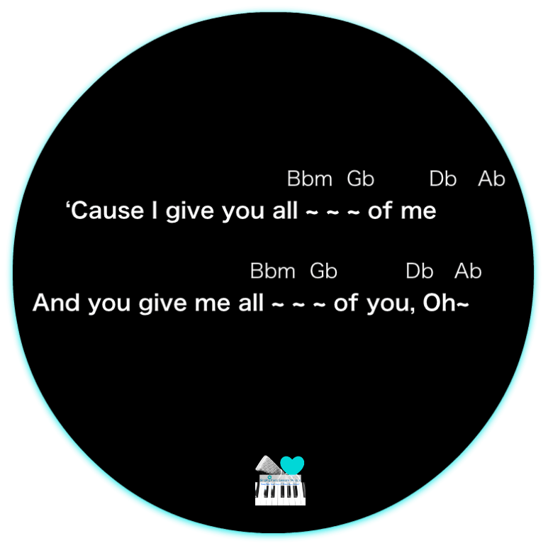 6 Chorus 1-3 All of me by John Legend, Karaoke, Instrumental in Female Key/ Baritone for Males