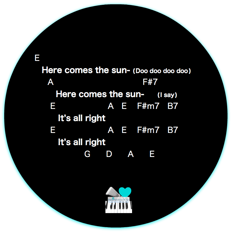 7 Outro Here comes the Sun Beatles Karaoke Instrumental in Female Key/ Baritone for Males
