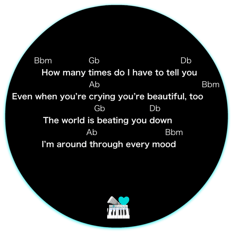 7 Verse 2 All of me by John Legend, Karaoke, Instrumental in Female Key/ Baritone for Males
