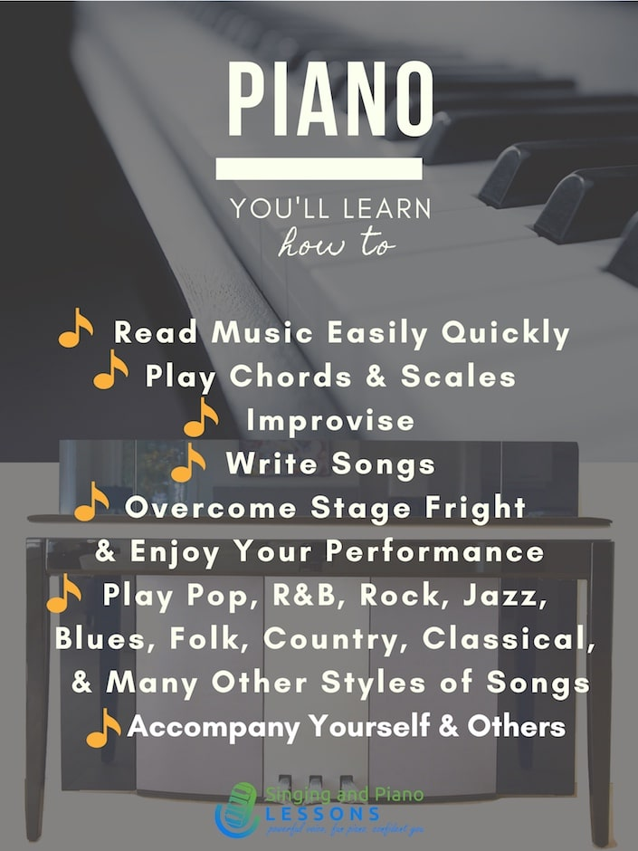 Private Piano Lessons - Singing and Piano Lessons