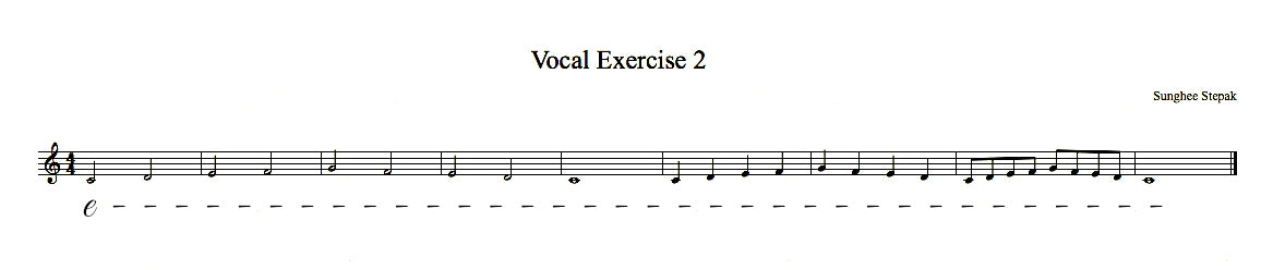 Vocal Exercise 2