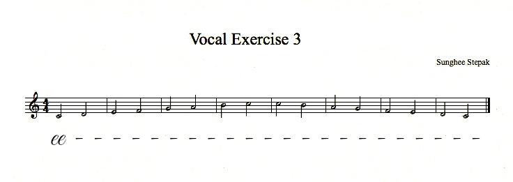 Vocal Exercise 3