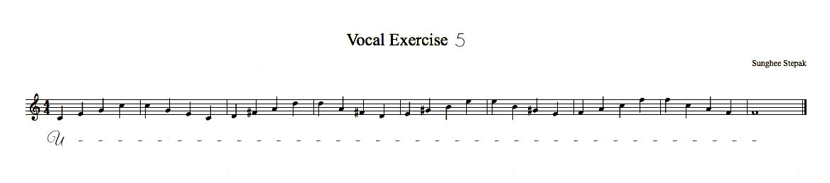 Vocal Exercise 5