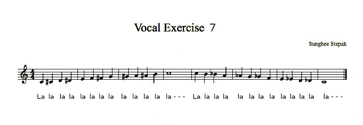 Vocal Exercise 7