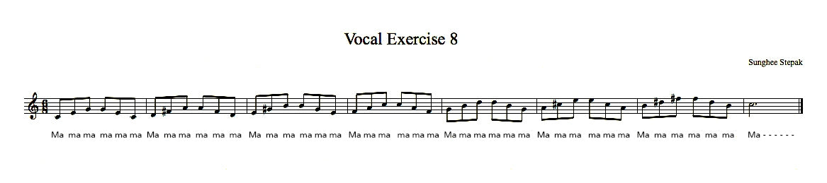 Vocal Exercise 8