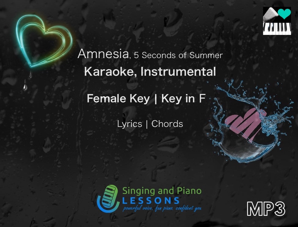 Amnesia by 5 Seconds of Summer Karaoke Instrumental in Female Key – Audio MP3