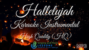 Hallelujah Karaoke Instrumental HQ in Female Key - Audio MP3